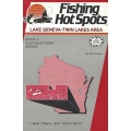 Original Fishing Hot Spots Lake Map Books - Vintage